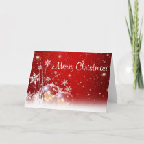 Merry Christmas Snowflake Folded Holiday Cards