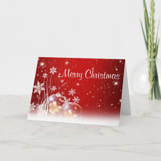 Merry Christmas Snowflake Folded Holiday Cards Zazzle Com