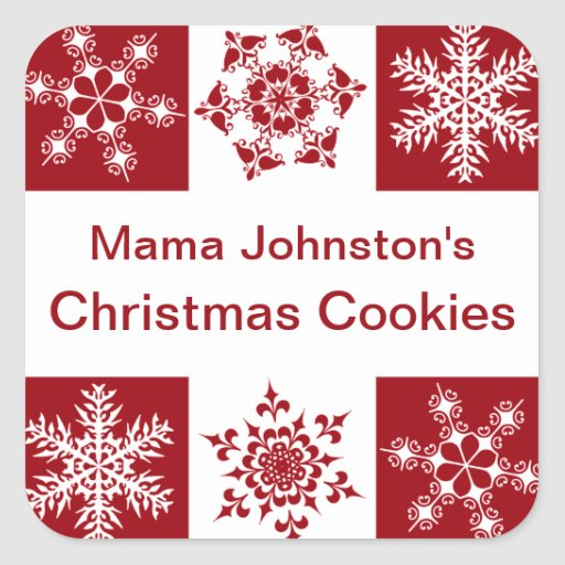 Merry Christmas Snowflake Gift Package Decoration Stickers