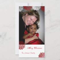 Merry Christmas Snowflake Lace Holiday Card