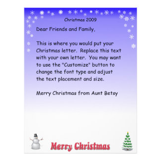 Merry Christmas Snowflake letter Letterhead