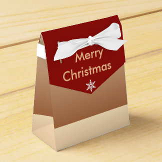 Merry Christmas Snowflake Party Favor Boxes