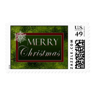 Merry Christmas snowflake Postage