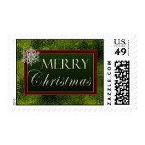 Merry Christmas snowflake Postage Stamp