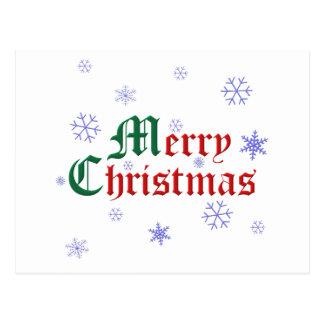 Merry Christmas – Snowflake Postcard
