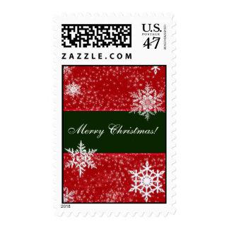 Merry Christmas snowflake stamp