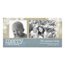 Merry Christmas Snowflakes - 2 photos - horizontal Card