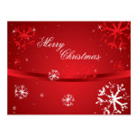 Merry Christmas Snowflakes 2 Postcard