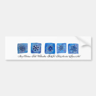 Merry Christmas Snowflakes Bumper Sticker