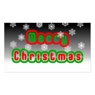 Merry Christmas Snowflakes Business Card