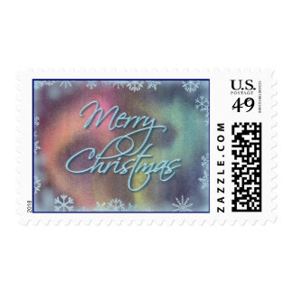 MERRY CHRISTMAS SNOWFLAKES by SHARON SHARPE Postage