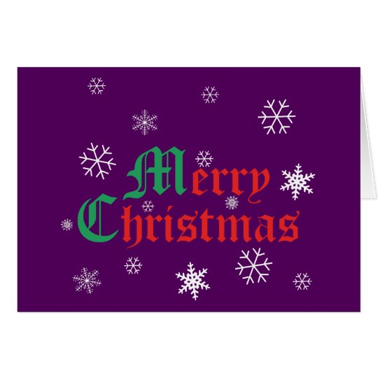 Merry Christmas - Snowflakes Card