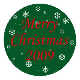 Merry Christmas Snowflakes Cutout