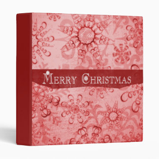 Merry Christmas Snowflakes design Binder