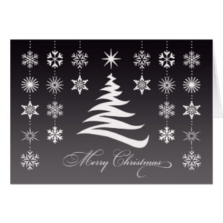 Merry Christmas Snowflakes Folded Card