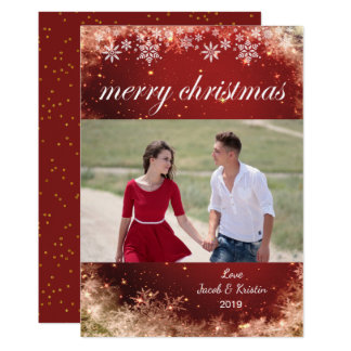 Merry Christmas Snowflakes - Holiday Photo Card
