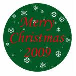 Merry Christmas Snowflakes Photo Sculpture Ornament
