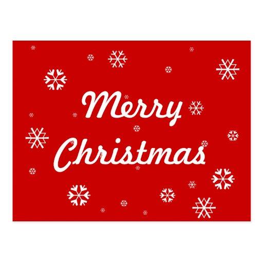 Merry Christmas Snowflakes Postcards