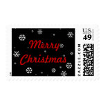 Merry Christmas Snowflakes Stamps