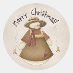 Merry Christmas Snowgirl 2 Design Sticker