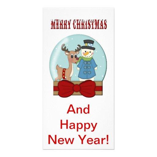 Merry Christmas Snowglobe Card Photo Card