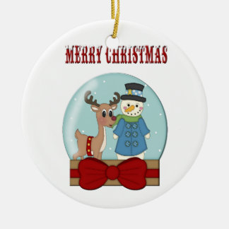Merry Christmas Snowglobe Ornament