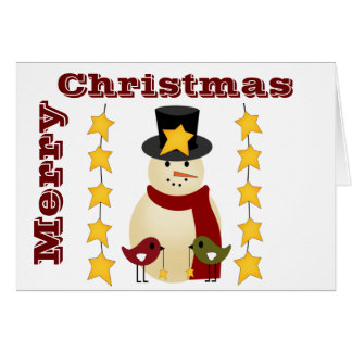 Country snowman christmas cards zazzle Country christmas gifts to make