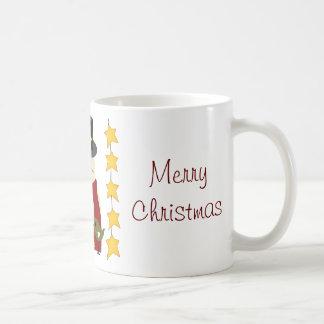 Merry Christmas Snowman and Stars Gifts Coffee Mug