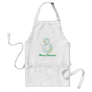 Merry Christmas snowman apron