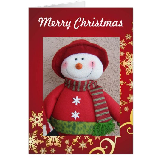 Merry Christmas Snowman Christmas  Card