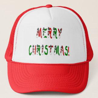 Merry Christmas Snowman Font Hat