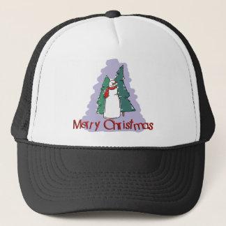 Merry Christmas Snowman Gift Trucker Hat
