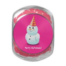 Merry Christmas Snowman Glass Jars