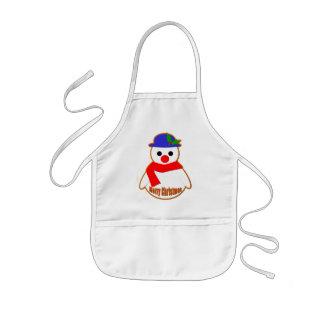 Merry Christmas Snowman Kids' Apron