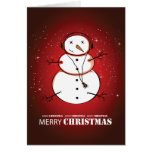 Merry Christmas Snowman Music Greeting Cards