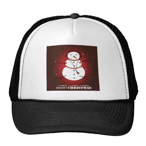 Merry Christmas Snowman Music Trucker Hat