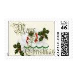 Merry Christmas Snowman & Snowwoman Stamp