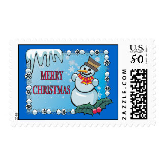Merry Christmas Snowman Stamps