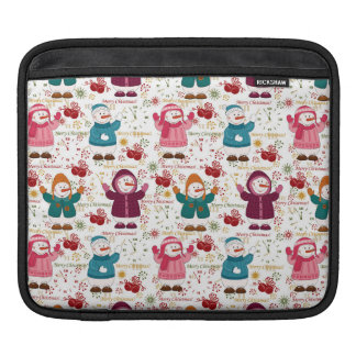 Merry Christmas Snowmen iPad Sleeve