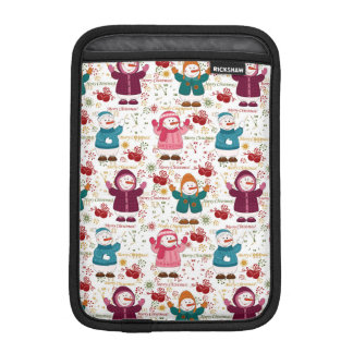 Merry Christmas Snowmen Sleeve For iPad Mini