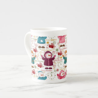 Merry Christmas Snowmen Tea Cup