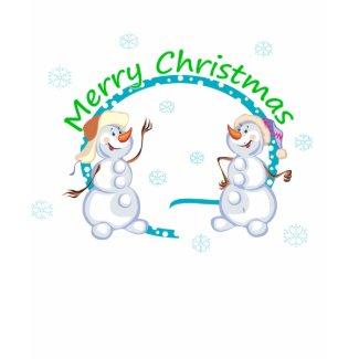 Merry Christmas Snowmen Womens Dark Shirt shirt