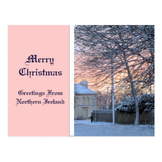 Merry Christmas - Snowy Winter Postcard