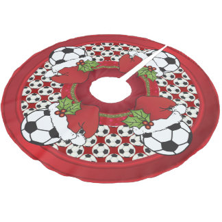 Merry Christmas Soccer Lovers Brushed Polyester Tree Skirt
