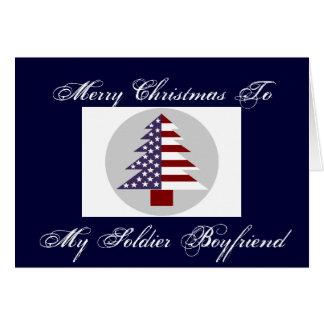 MERRY CHRISTMAS SOLDIER BOYFRIEND CARD