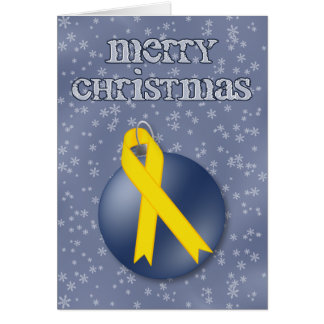 Merry Christmas Soldier Support Ribbon Card