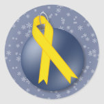 Merry Christmas Soldier Support Ribbon Stickers