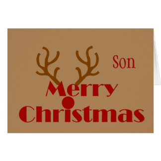 Merry Christmas Son No more Christmas Music Fun Card