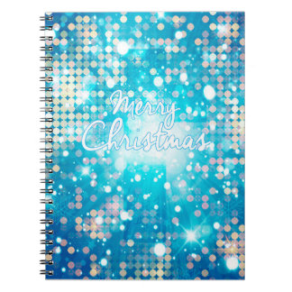 Merry Christmas Sparkle Spiral Notebook