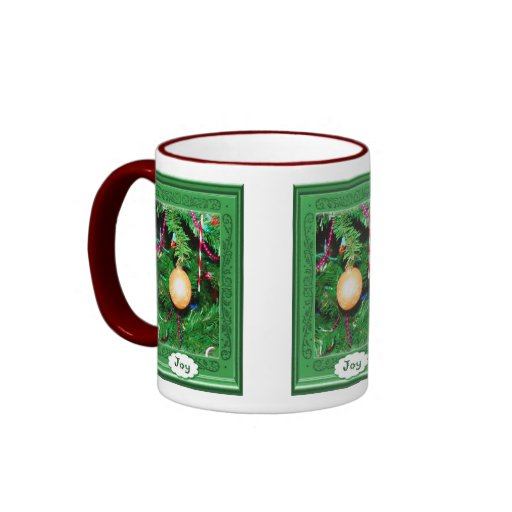 Merry Christmas, sparkly decoration Ringer Mug